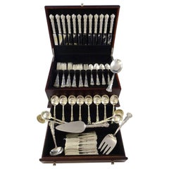 Kings Court by Frank Whiting Sterling Silver Flatware Service Set 76 Pcs M Mono