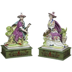 Pair of European Porcelain Figure Groups
