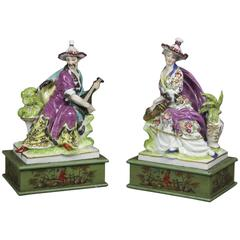 Pair of European Porcelain Figure Groups