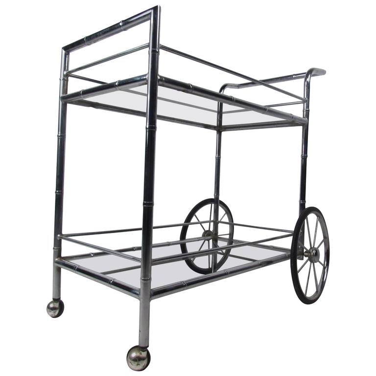 Vintage Chrome Bar Cart