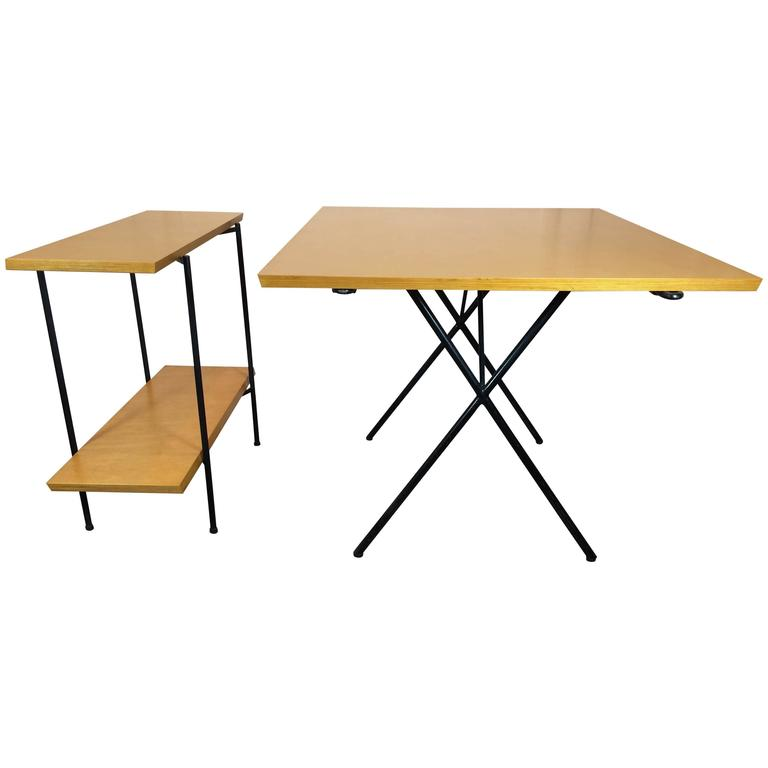 Tony Paul Table and Server, Server Hold Table Leaves For Sale