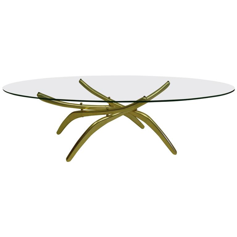 Rare Italian Mid-Century Modern 'Arachnid' Coffee Table Attr. to Carlo Mollino For Sale