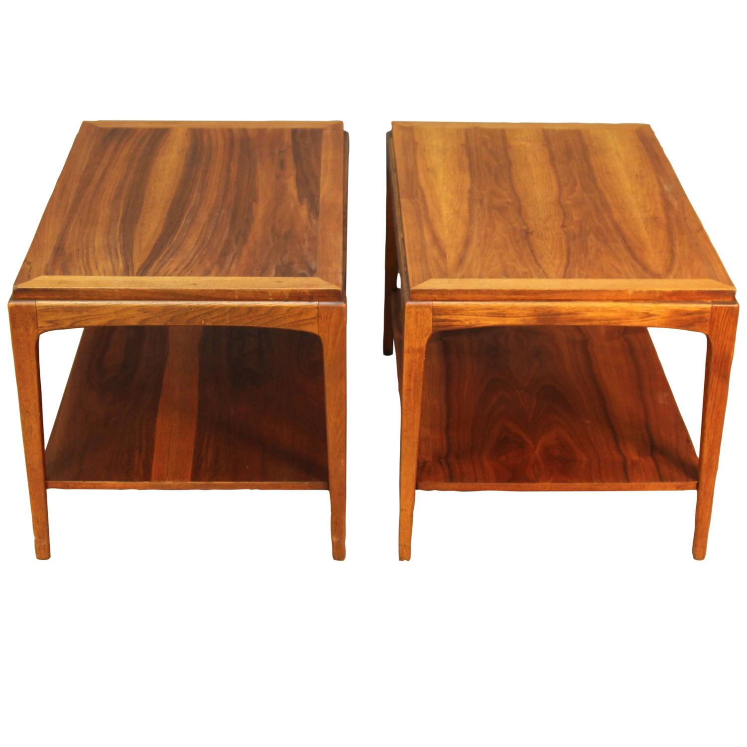 Pair Of Lane Walnut End Tables For Sale At 1stdibs