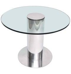Paul Mayen Polished Aluminum Dinette Table