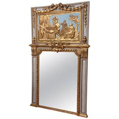 Superb 18th Century Giltwood French Mirror