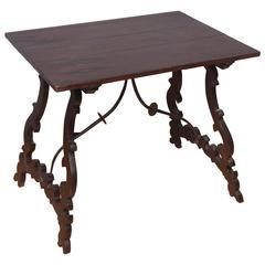 Rare 18th Century Italian Walnut Small Table