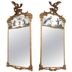 Pair of Chinese Chippendale Mirrors