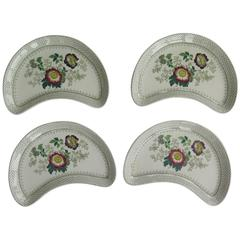 Set of Four 19th Century Mason's Ashworth's Ironstone Supper Dishes, Ca 1890