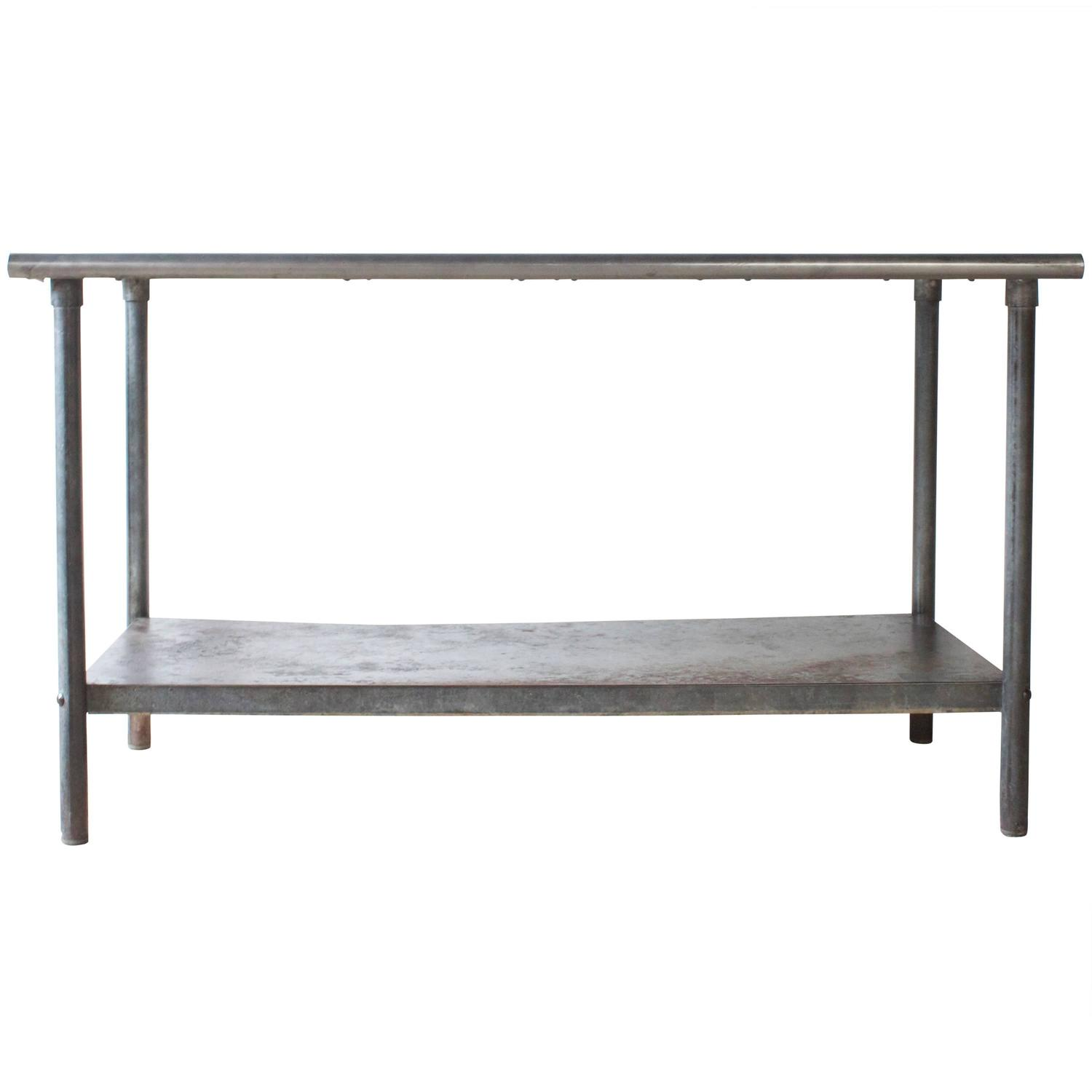 Industrial metal work table at 1stdibs for Furniture work table