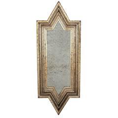 Angular Silver Leafed Mirror