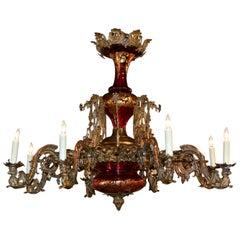 Rare 19th Century Belle Époque Chandelier