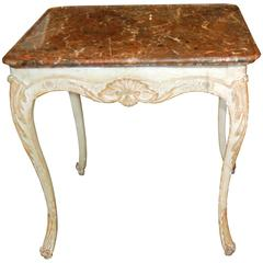 18th Century Painted and Carved Center Table