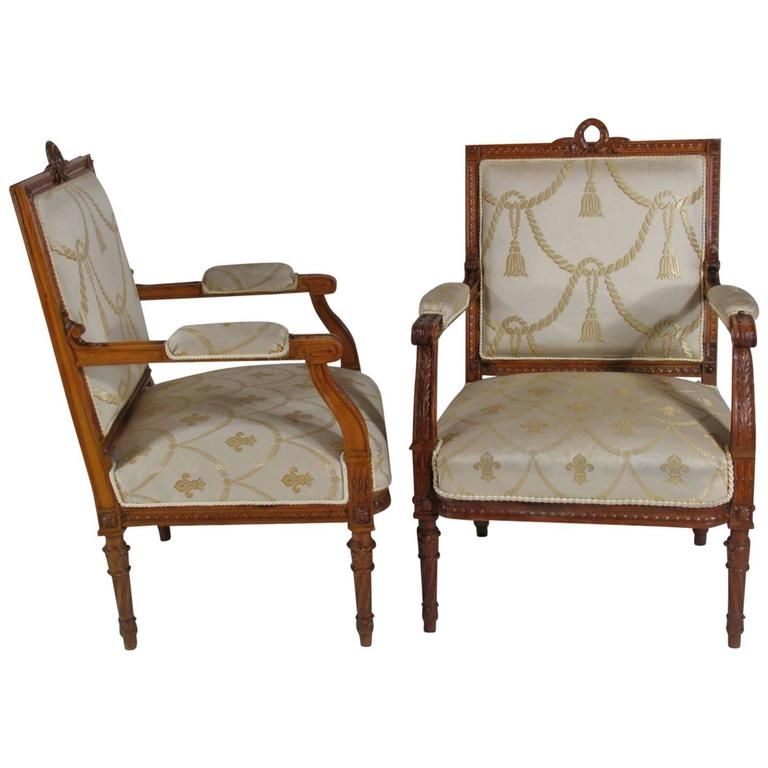 Pair of 19th Century Louis XVI-Style Armchairs