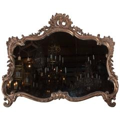 19th Century Carved and Gilded Horizontal Mirror