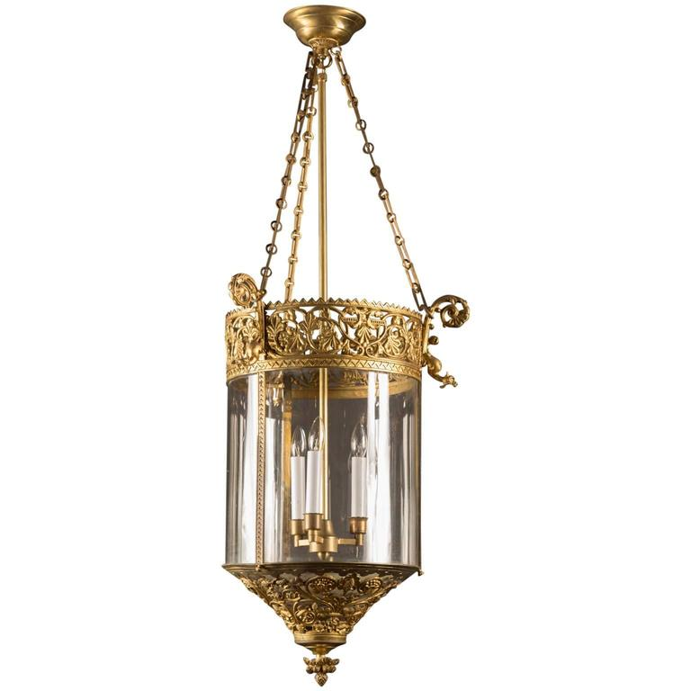 19th Century French Reticulated Bronze Lantern At 1stdibs