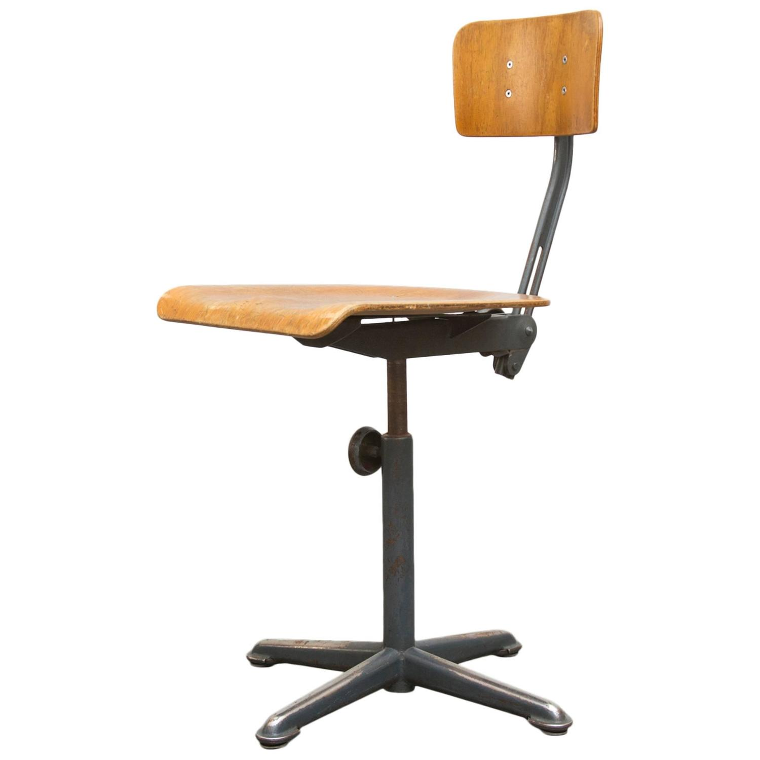 Rare Early Edition Friso Kramer Drafting Stools by Ahrend de