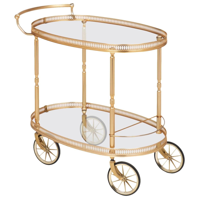 french 1930 gilt brass bar cart at 1stdibs. Black Bedroom Furniture Sets. Home Design Ideas
