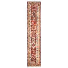 Kilim Runner Qashqai Designs, Geometrical Carpet Runner, Stair runner rugs