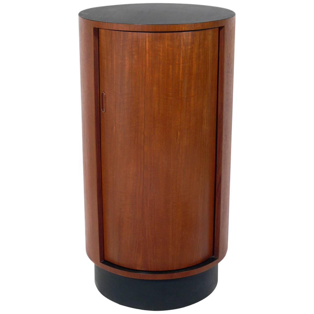 Tall danish modern circular bar cabinet at 1stdibs - Contemporary bar cabinet on a small budget ...