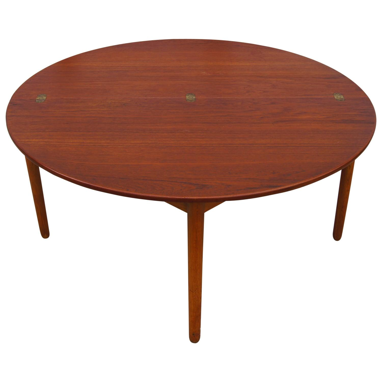 Teak Folding Coffee Table By Poul Volther For Frem Rojle For Sale At 1stdibs
