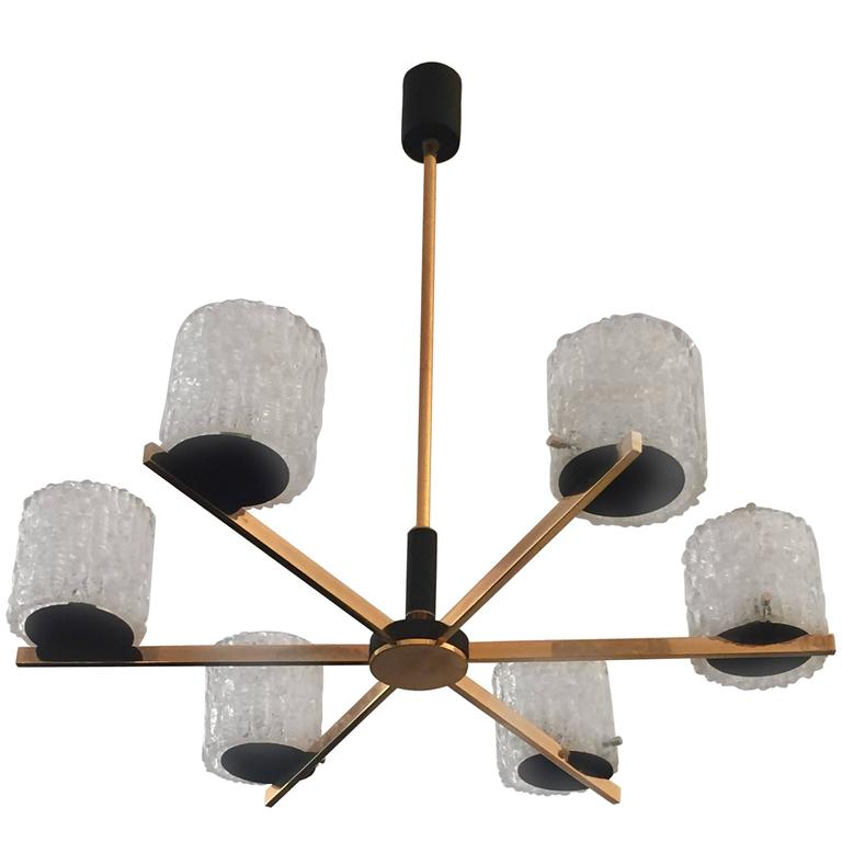 French Lunel 1950s Mid-Century Modern Chandelier 1