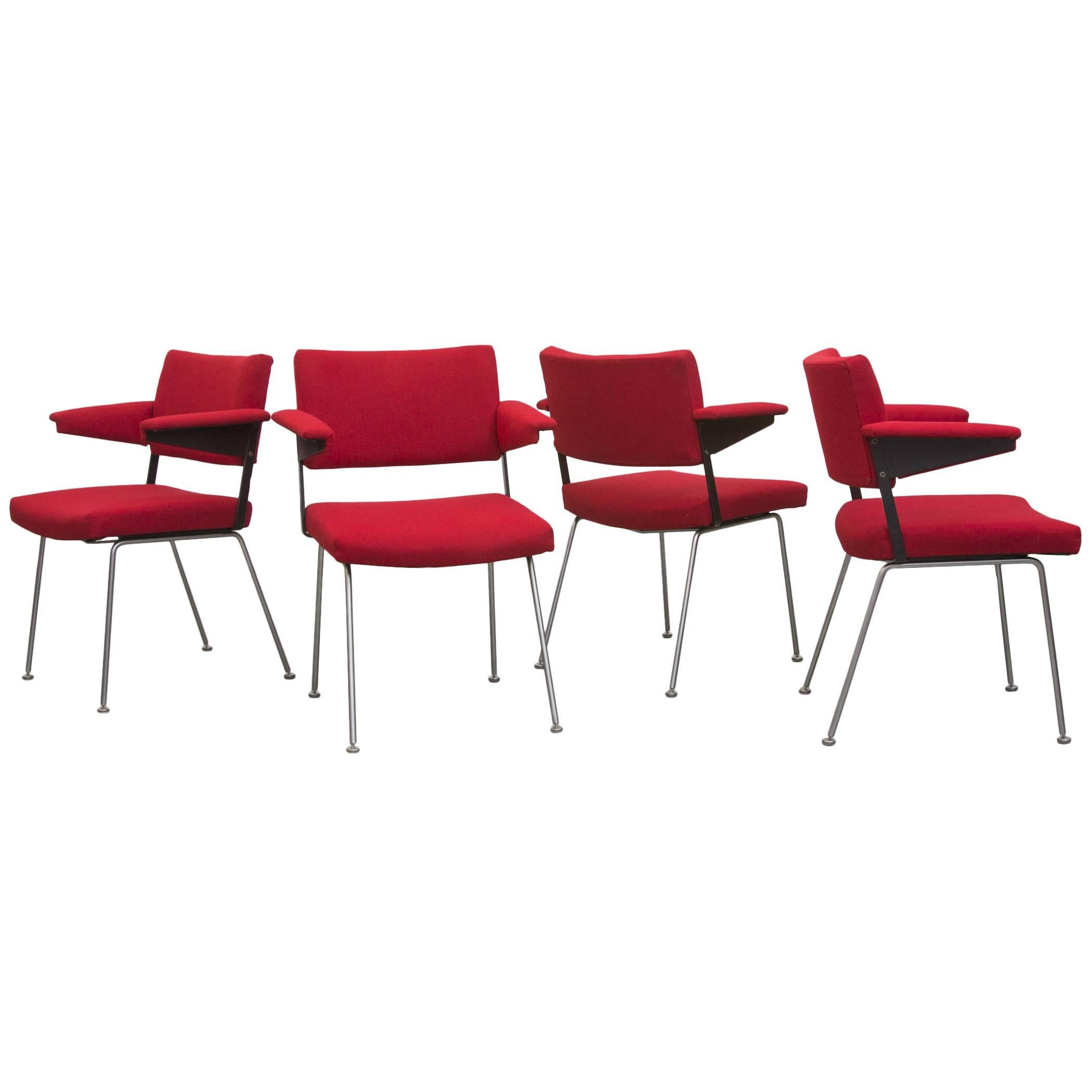 Set of Four Gispen No.11 Armchairs by A.R. Cordemeijer
