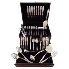 Silver Sculpture By Reed & Barton Sterling Silver Flatware Service 8 Set 53 Pcs