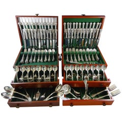 Chantilly by Gorham Sterling Silver Flatware Set 48 Service 258 Pcs Massive!