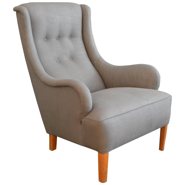 single lounge chair by carl malmsten sweden 1950s for ForSingle Lounge Chairs For Sale