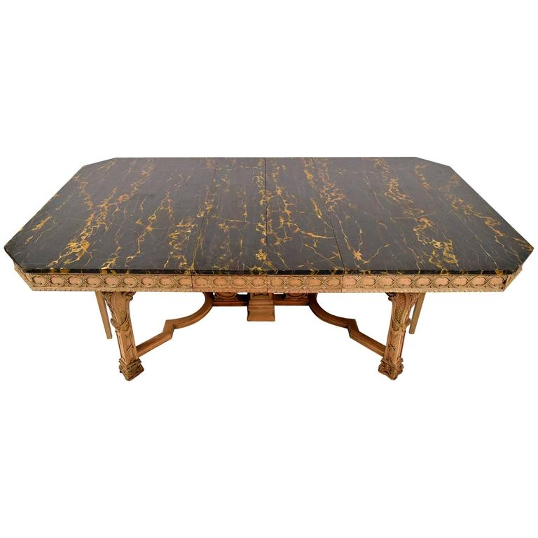 Antique Regency Style Dining Table with Faux Marble Top at  : 4303273l from www.1stdibs.com size 768 x 768 jpeg 34kB