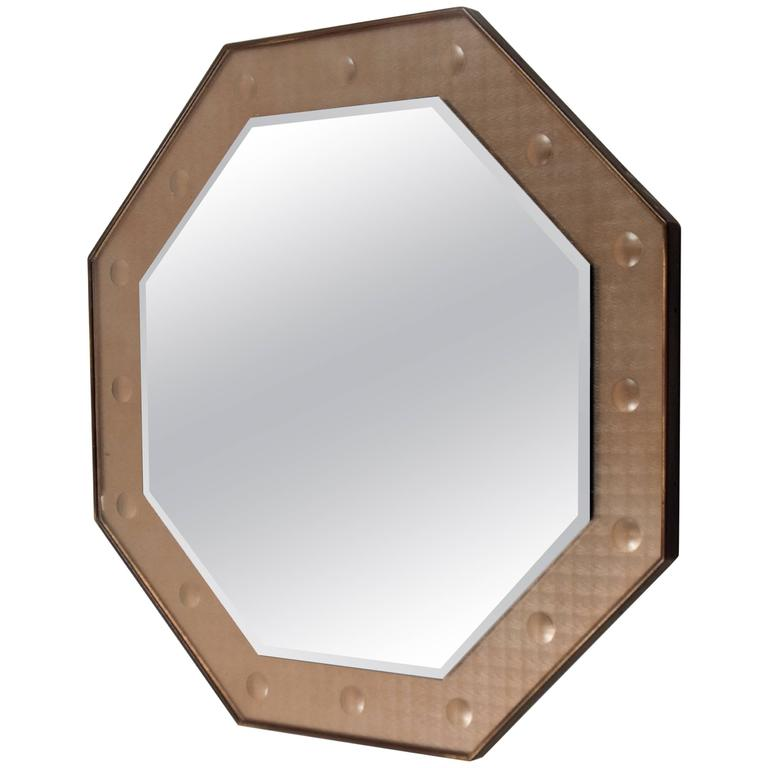 Octagonal Mirror, Italy, circa 1950