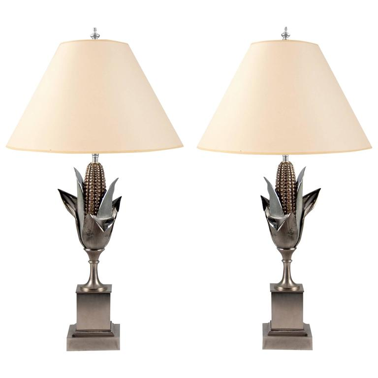 Pair of Lamps by Maison Charles, France, circa 1960 For Sale