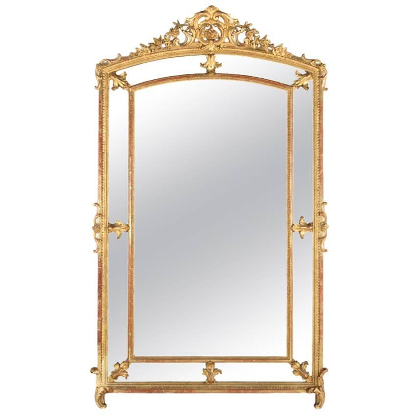 Large impressive 19th century french giltwood parclose for Baroque mirror canada