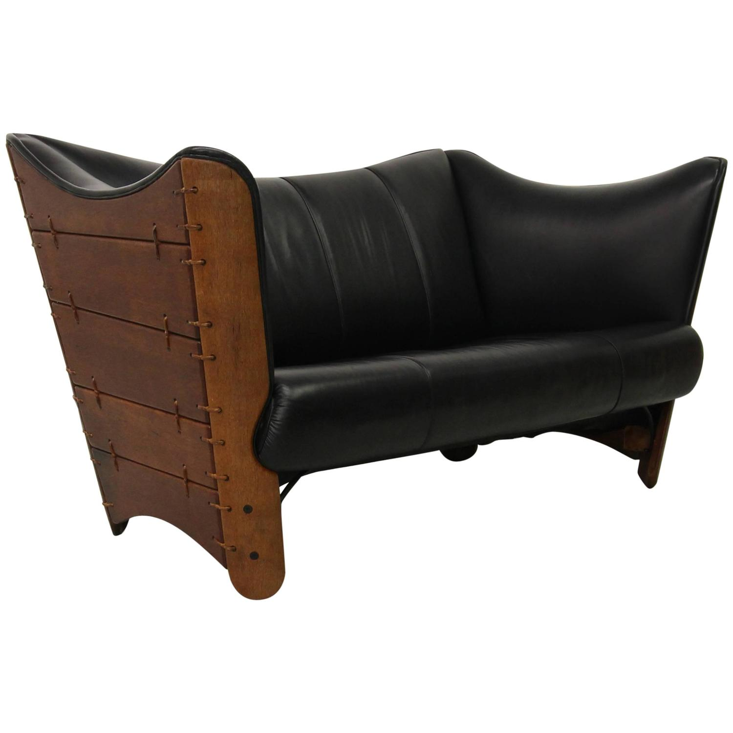 Pacific Green Palmwood And Leather Cayenne Sofa Loveseat At 1stdibs