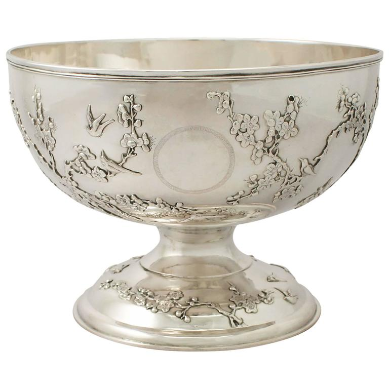 Chinese Export Silver Bowl - Antique Circa 1800