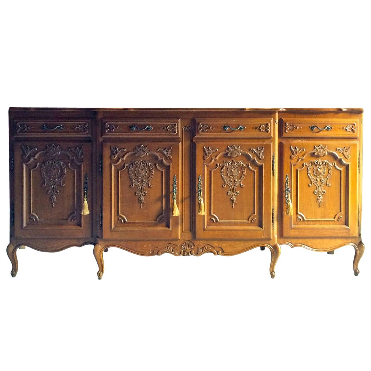 french antique style sideboard credenza golden oak buffet cupboard dresser at 1stdibs. Black Bedroom Furniture Sets. Home Design Ideas