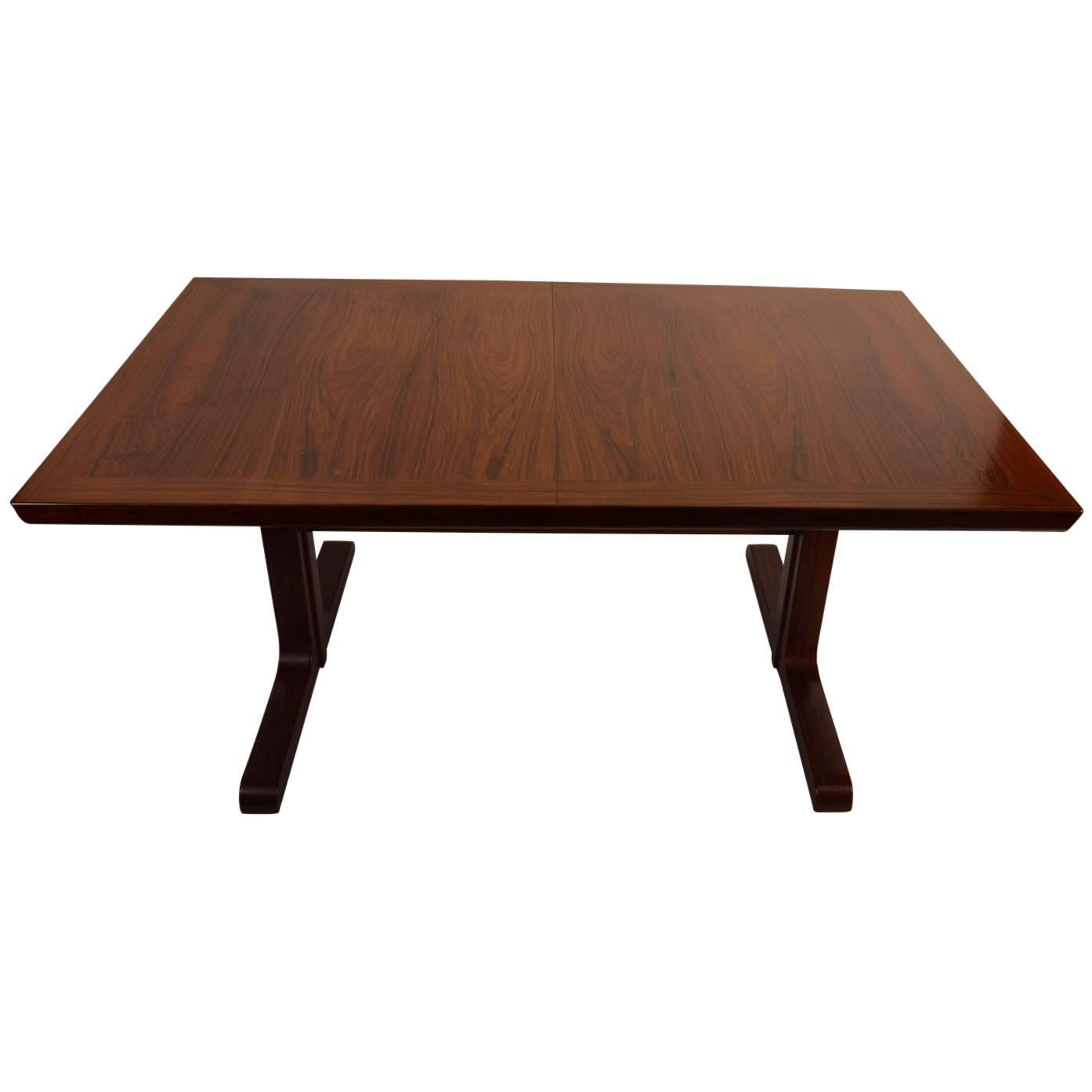 Danish Rosewood Dining Table By Skovby At 1stdibs