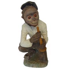 Soulful Italian Terracotta Monkey Statue