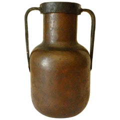 Arts and Crafts American Copper and Iron Vase