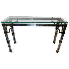 Mid-Century Modern Mixed Metal Console Attributed to John Vesey