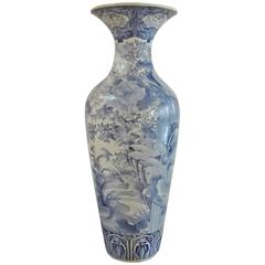 Massive Blue and White Imari Palace Vase 19th Century