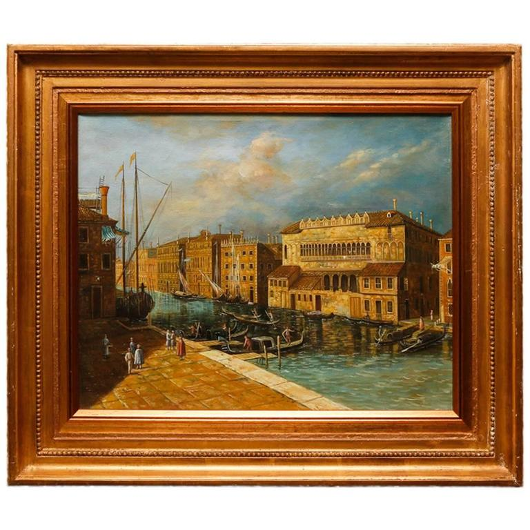 Venetian School Oil on Canvas, Unsigned, Early 19th Century