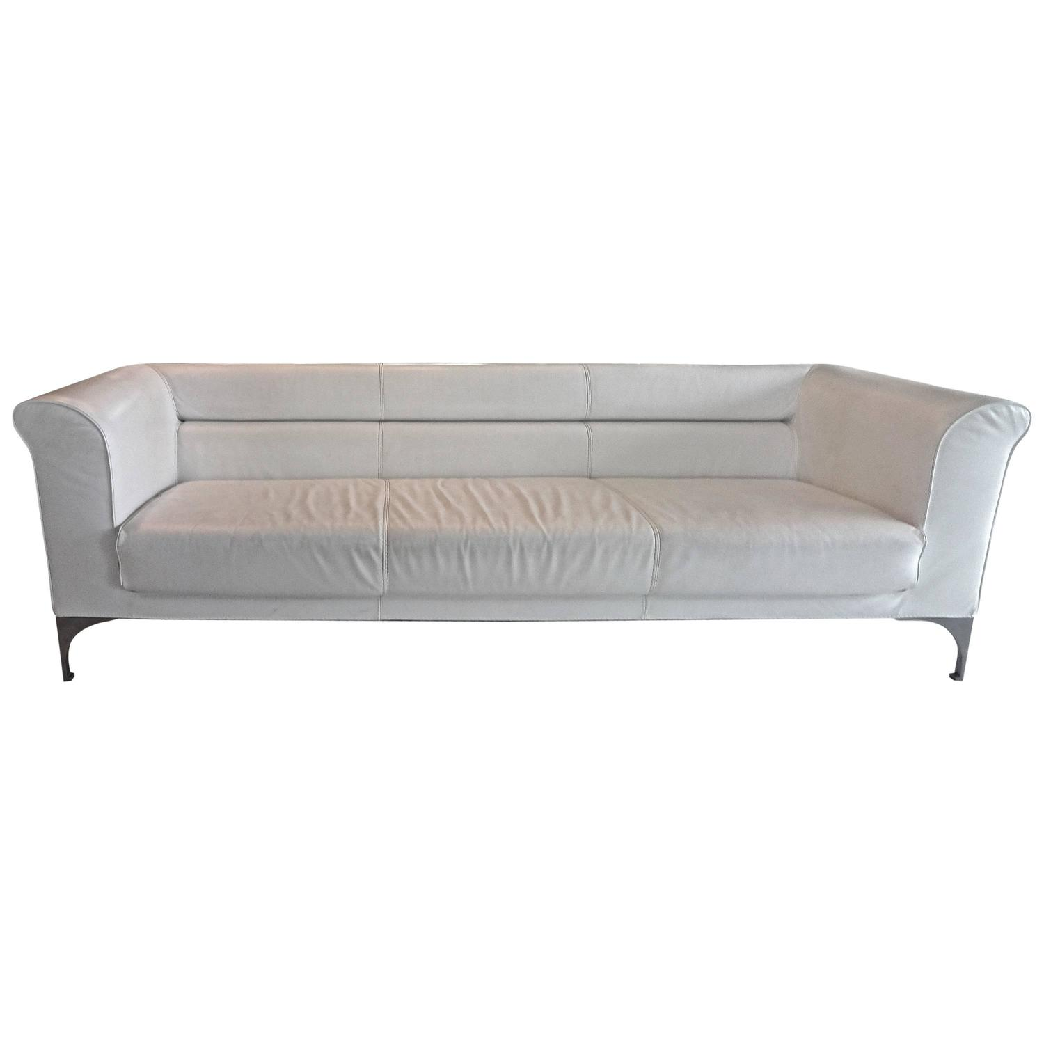 roche bobois white leather sofa for sale at 1stdibs. Black Bedroom Furniture Sets. Home Design Ideas