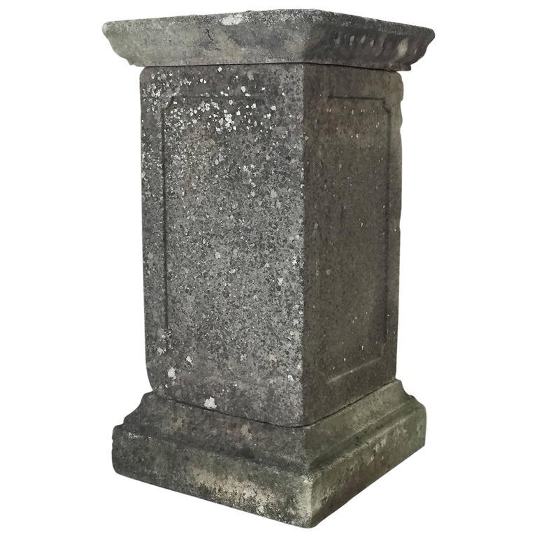 Bon Tall English Garden Stone Pedestal For Sale