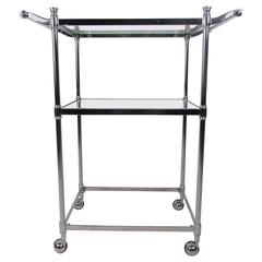 Mid-Century Style Chrome Serving Cart