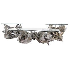 Set of Boho Driftwood Tables
