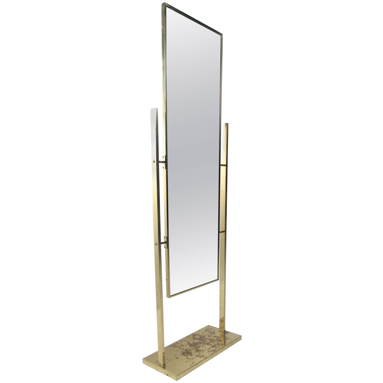 Unique vintage brass finish dressing mirror for sale at for Floor length mirror for sale