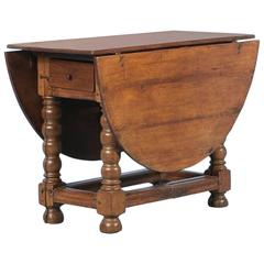 Antique Oak Gateleg Table from, Denmark, circa 1820