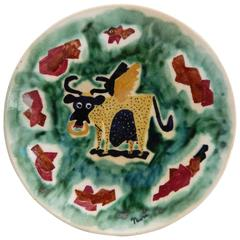 Associated American Artists Ceramic Plate by Nura Woodson Ulreich, 1940s