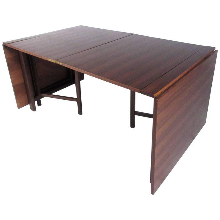Bruno Mathsson Style Drop Leaf Conference Table For